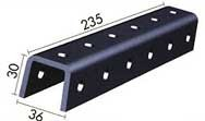 WIBE-DEFEM 1149401 Соединение B61 для U-профилей, длина 235 mm
