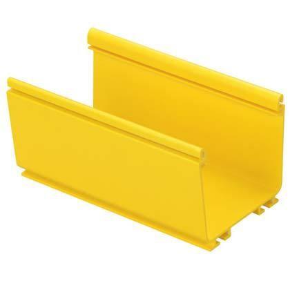 PANDUIT FR4X4YL2 Кабельный лоток серии FiberRunner, размеры: 100 мм x 100 мм, 2м, желтый (цена за 1 м)<img style='position: relative;' src='/image/only_to_order_edit.gif' alt='На заказ' title='На заказ' />