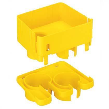 PANDUIT FRIDT4X4YL Фиттинг для прокладки кабеля в одной или двух гофрированных трубах с внутренним диаметром 38 мм, желтый<img style='position: relative;' src='/image/only_to_order_edit.gif' alt='На заказ' title='На заказ' />