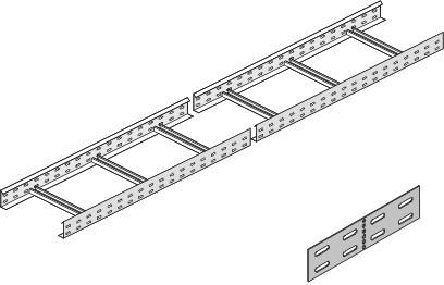Vergokan KL 110*400 Кабельный лоток лестничного типа профильный (перфор.) 110*400мм