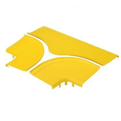 """PANDUIT FRTSC12YL Крышка на горизонтальный тройник для распределительного лотка FiberRunner 12"""" x 4"""" (300 мм x 100 мм), с Т-образной прорезью шириной 19 мм, желтая<img style='position: relative;' src='/image/only_to_order_edit.gif' alt='На заказ' title='На заказ' />"""