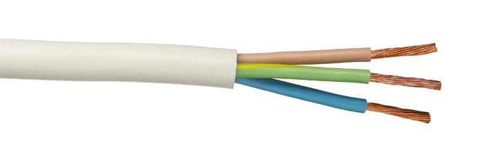 Российский кабель ПВС 3x4, 0 кв.мм Провод со скрученными жилами, с ПВХ изоляцией, в ПВХ оболочке
