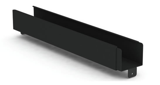Siemon VPA-SPAN-1-SALE Горизонтальный кабельный лоток регулируемой длины для прокладки кабеля внутри шкафа ( длина 555-911 мм, ширина 81 мм, высота 65 мм) (РАСПРОДАЖА)