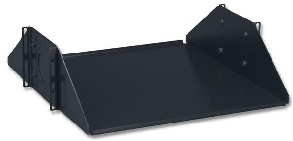 "Siemon SH-D19-01-SALE 19"" Полка усиленная, двусторонняя сплошная (глубина 152 мм, нагрузка до 68, 1 кг), черная (РАСПРОДАЖА)"