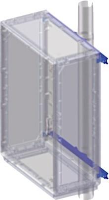 DKC / ДКС 095770970 Комплект крепления шкафов Conchiglia к столбу (ширина шкафа- 580 мм) (замена CN5FB058)<img style='position: relative;' src='/image/only_to_order_edit.gif' alt='На заказ' title='На заказ' />