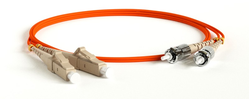Одномодовый и многомодовый оптический патч-корд, ST-LC, дуплексный.