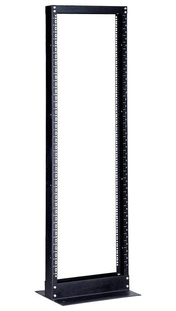 """Hyperline ORV1-42-RAL9005 Открытая стойка 19-дюймовая (19""""), 42U, высота 2065 мм, однорамная, цвет черный (RAL 9005)"""