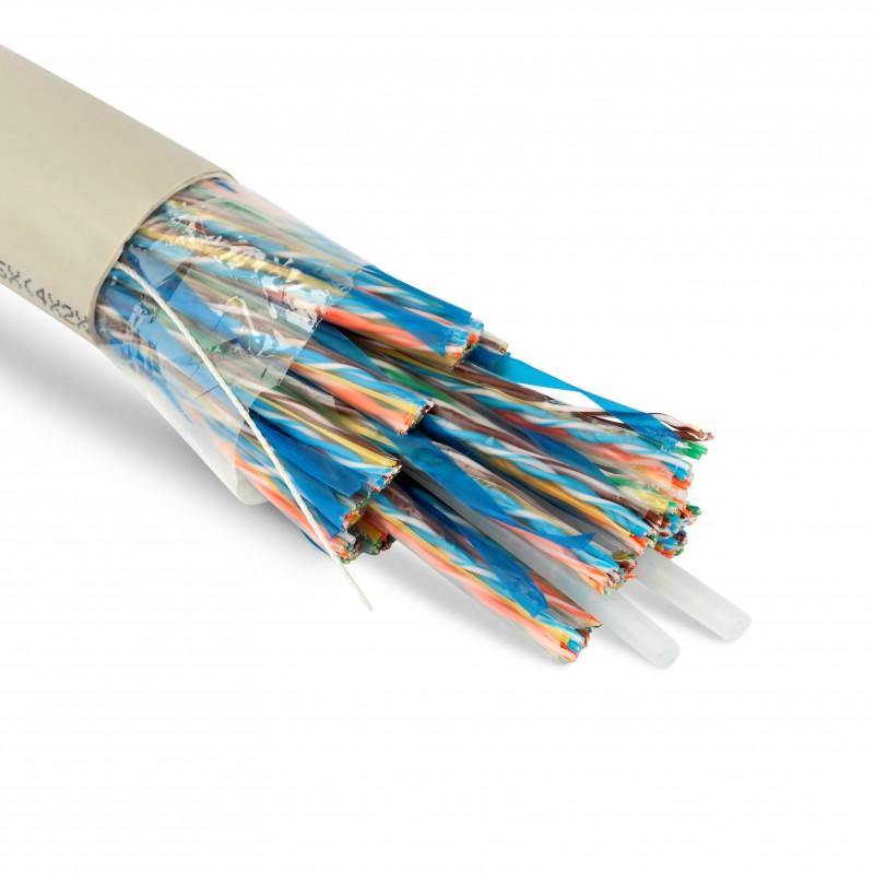 Teldor 7564425129W050T Кабель витая пара, неэкранированная U/ UTP, категория 5, 100 пар (24 AWG), одножильный (solid), FR PVC, -20°C - +60°C, светло-серый