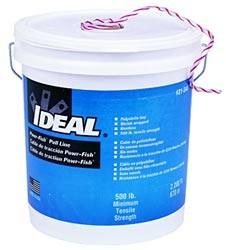 IDEAL 31-344 Power-Fish шнур для кабельных каналов, устойчивый к воздействию окружающей среды, грибка и плесени, упакован в коробку, длина 670.56м