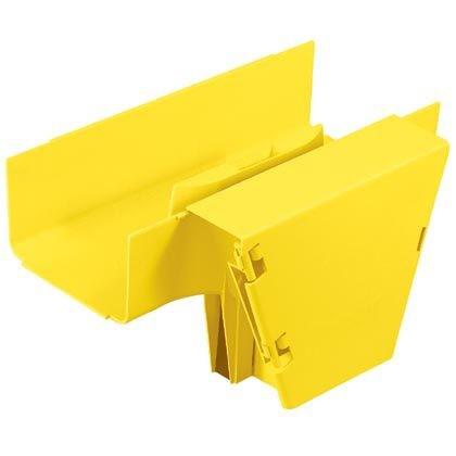 """PANDUIT FRVT6X4YL Т-образный переходник с горизонтального на вертикальный кабельный канал FiberRunner с навесной дверцей, 6"""" х 4"""" (150 мм х 100 мм), жёлтый"""