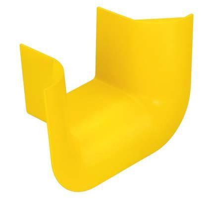 """PANDUIT FTR4X4YL Т-образный трехсторонний раструб для перехода с горизонтального на вертикальный кабельный канал FiberRunner, 6"""" х 4"""" (150 мм х 100 мм), жёлтый"""