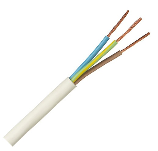 Российский кабель ПВС 3x0.75 кв.мм Провод со скрученными жилами, с ПВХ изоляцией, в ПВХ оболочке