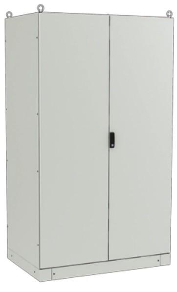 ZPAS WZ-6282-01-17-011-AS Электрический шкаф SZE3 2000х1200х800мм (ВхШхГ), на цоколе, с передней дверью, задней панелью, с монтажной панелью, без боковых стенок, серый (RAL 7035) (собранный)