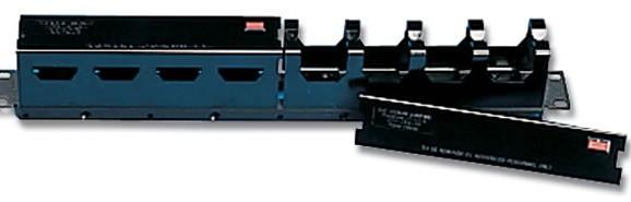 """Siemon S110-RWM-01 19"""" Горизонтальный кабельный органайзер с крышкой, 1U, черный"""