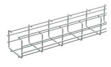 WIBE-DEFEM 1149233 C-образный проволочный лоток шириной 120 x 5 мм, высотой 100 мм, оцинкованный, горячая гальваника (для улицы, всепогодный) (2.5 м)