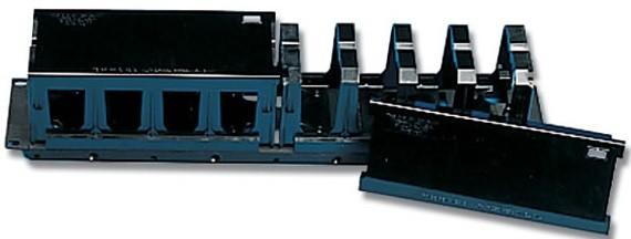 """Siemon S110-RWM2-01-SALE 19"""" Горизонтальный кабельный органайзер с крышкой, 2U, черный (РАСПРОДАЖА)"""