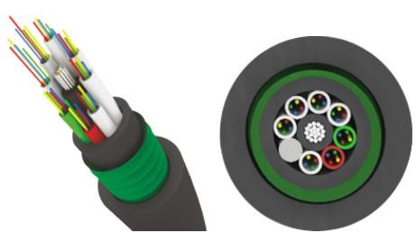 Трансвок ОКЗ-САО-2/ 2Сп-8(1/ 50) (1, 5кН) Кабель волоконно-оптический 50/ 125 многомодовый, 8 волокон, внутризоновый, бронированный стальной лентой, прокладка в каб.канализации, тоннелях, черный