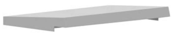 DKC / ДКС R5TT049 Козырёк защитный, 400x250мм (ШхГ), для шкафов серии CE/ ST, цвет серый RAL 7035<img style='position: relative;' src='/image/only_to_order_edit.gif' alt='На заказ' title='На заказ' />