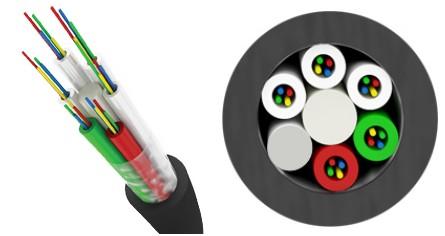 Трансвок ОКМТ-О-1/ 5Сп-4(2) (1, 5кН) Кабель волоконно-оптический 9.5/ 125 (G.652.D) одномодовый, 4 волокна, магистральный диэлектрический, c полимерной защитной оболочкой, для прокладки в пластмассовый трубопровод, черный
