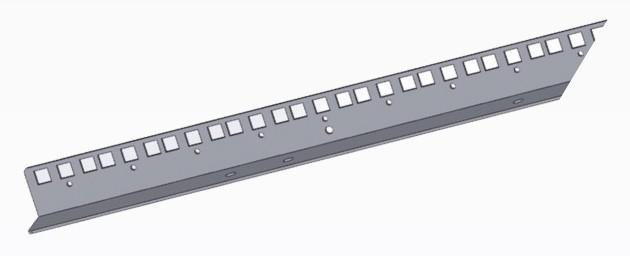 AXELENT X-TRAY 7100-051 19'' монтажный профиль, 46 U (2060 мм), оцинковано-хромированный