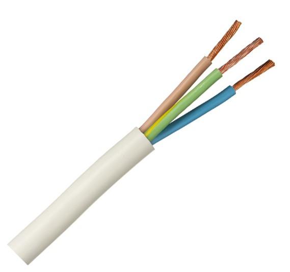 Российский кабель ПВС 3x2.5 кв.мм (100м) Провод со скрученными жилами, с ПВХ изоляцией, в ПВХ оболочке
