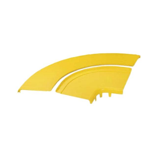 """PANDUIT FRRASC12YL Двухсекционная крышка для горизонтального правого угла FiberRunner 12"""" х 4"""" (300 мм х 100 мм), жёлтая<img style='position: relative;' src='/image/only_to_order_edit.gif' alt='На заказ' title='На заказ' />"""