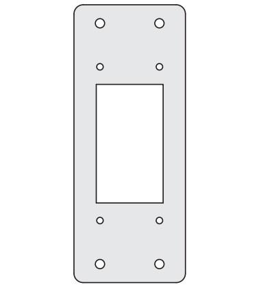 DKC / ДКС R5AD2410 Заглушки для пром. панелей, переходник 24/ 10, 1 упаковка - 4шт.<img style='position: relative;' src='/image/only_to_order_edit.gif' alt='На заказ' title='На заказ' />