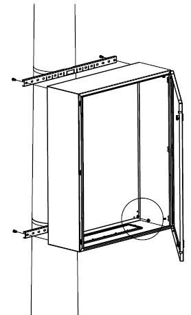 DKC / ДКС R5FB500 Комплект крепления шкафов CE/ ST/ RAM box к столбу (ширина шкафа- 500 мм) ( в комплекте: профиль, стяжной хомут, замок для фиксации хомута)<img style='position: relative;' src='/image/only_to_order_edit.gif' alt='На заказ' title='На заказ' />